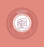 Счастливый плакат дня валентинки Стоковое Изображение