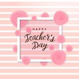 Счастливый плакат дня ` s учителя Стоковые Изображения RF
