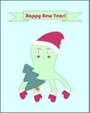 Счастливый плакат осьминога Нового Года Стоковые Фото