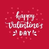 Счастливый плакат оформления дня валентинок Стоковое Фото