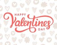 Счастливый плакат оформления дня валентинок Стоковые Изображения