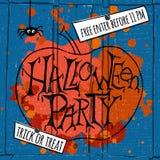Счастливый плакат партии хеллоуина также вектор иллюстрации притяжки corel Стоковые Изображения