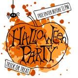 Счастливый плакат партии хеллоуина также вектор иллюстрации притяжки corel Стоковое фото RF