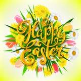 Счастливый плакат пасхи Стоковое Фото
