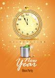 Счастливый плакат торжества партии Нового Года 2017 бесплатная иллюстрация
