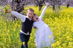 Счастливый радоваться детей стоковая фотография