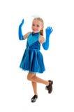 Счастливый ребенок танца крана Стоковые Изображения