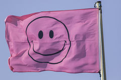 Счастливый розовый флаг Стоковая Фотография RF
