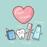 Счастливый друг зуба шаржа иллюстрация штока