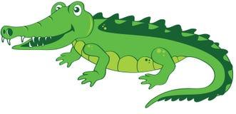 Счастливый дружелюбный крокодил стоковое изображение