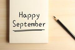 Счастливый сентябрь Стоковое фото RF