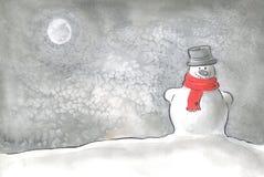 счастливый снеговик Стоковое Фото