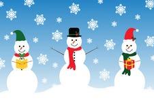 Счастливый снеговик 3 Стоковое Фото