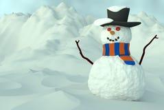 Счастливый снеговик 2 Стоковое Изображение