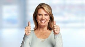 счастливый старший повелительницы Стоковое фото RF