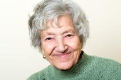 Счастливый старший портрет дамы Стоковое Изображение RF
