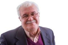 Счастливый старший человек с широкой греет улыбку стоковое фото