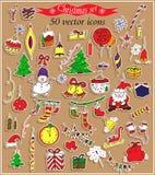 Счастливый стикер Нового Года Стоковые Фотографии RF