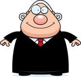 Счастливый судья шаржа иллюстрация штока