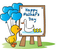 Счастливый счастливый день отцов Стоковая Фотография RF