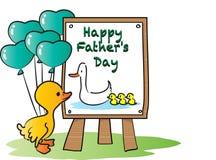 Счастливый счастливый день отцов Стоковое фото RF