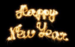 счастливый сделанный новый год sparkles Стоковое Фото