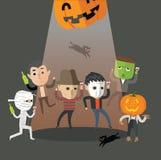 Счастливый танец хеллоуина Стоковые Изображения RF