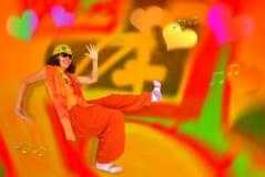 Счастливый танец Стоковое Изображение RF