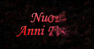 Счастливый текст Нового Года в felici anni Nuovi итальянки поворачивает к пыли Стоковое Изображение RF