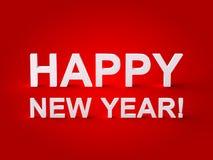 Счастливый текст Нового Года 3d Стоковое Фото