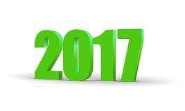 Счастливый текст 2017 торжества 3d Нового Года Красный цвет шаблон календаря 2017 номеров Красочная, объемная бумажная пальмира д Стоковые Изображения