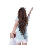 Счастливый турист женщины Стоковые Фото