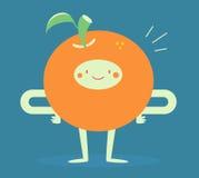 Счастливый усмехаться апельсина иллюстрация вектора