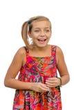 Счастливый усмехаясь жестикулировать ребенка Стоковое Фото