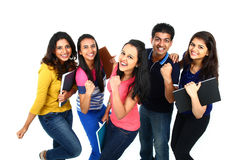 Счастливый усмехаясь портрет молодое индийского/азиата Изолированный на белом backgro Стоковое Фото