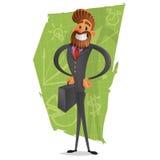 Счастливый, успешный бизнесмен в костюме бизнесмен успешный иллюстрация вектора