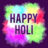 Счастливый фестиваль весны Holi Красочная предпосылка для цветов праздника абстрактная картина Стоковые Изображения RF