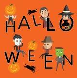 Счастливый формат хеллоуина eps10 Стоковое Изображение RF