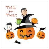 Счастливый формат хеллоуина eps10 Стоковые Фотографии RF