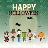 Счастливый формат хеллоуина eps10 Стоковое Фото