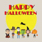Счастливый формат хеллоуина eps10 Стоковое Изображение