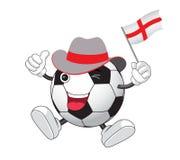 Счастливый футбол шаржа Стоковое Фото