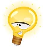 Счастливый характер электрической лампочки Стоковые Изображения RF