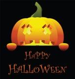 Счастливый хеллоуин с тыквой Стоковое фото RF