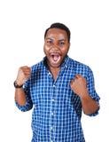Счастливый чернокожий человек. Стоковые Фотографии RF