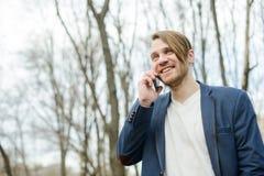 Счастливый человек в парке Стоковое Фото