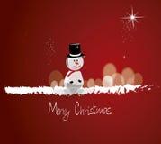 Счастливый человек снега Стоковые Фотографии RF