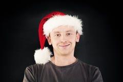 счастливый человек santa шлема Стоковые Изображения