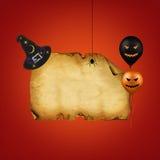 Счастливый чистый лист бумаги хеллоуина Стоковая Фотография RF
