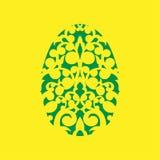 Счастливый шаблон вырезывания лазера пасхи для поздравительных открыток Стоковые Изображения